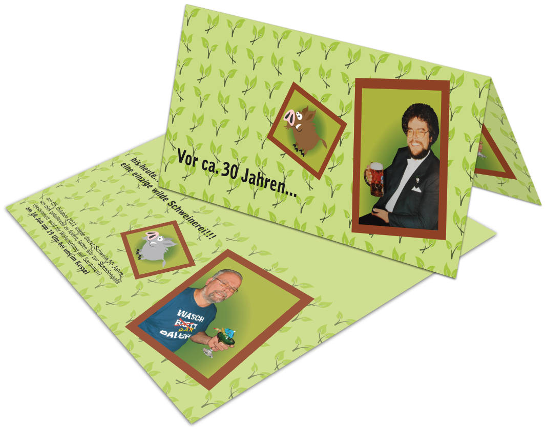 "Einladung ""Papa"", Karte"