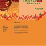 Haçienda Méxicana, Rezeptkalender August