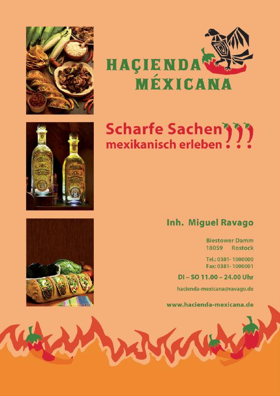 Haçienda Méxicana, Flyer