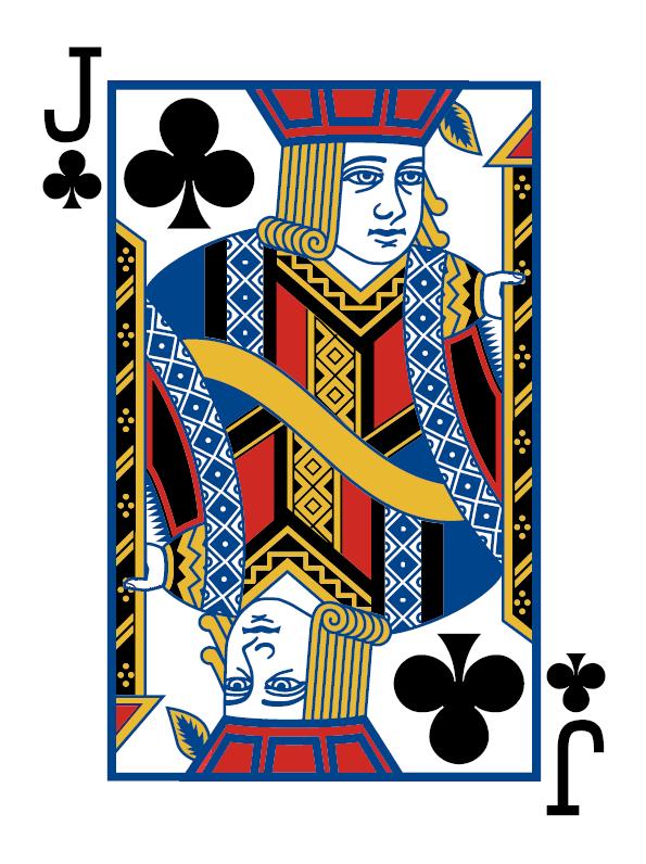 Spielkarte Kreuz Bube