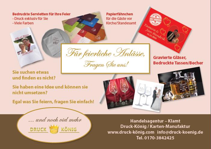 Druck König | Kartenkollektion 2017, Rückseite