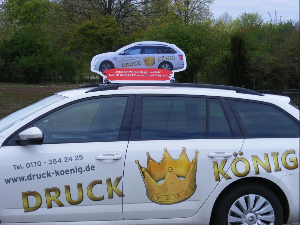 Druck König | Autodach-Werbeanlage 2017