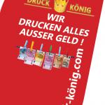 Druck König | Rucksackfahne 2017