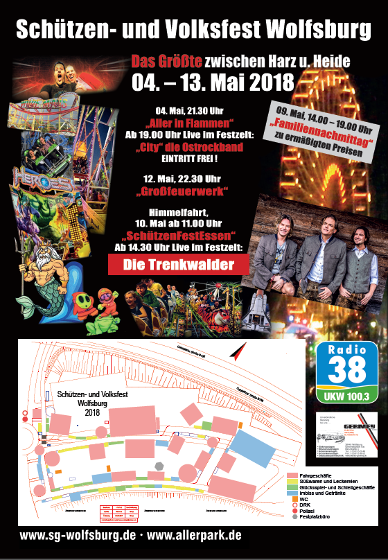 Schützen- und Volksfest Wolfsburg, Eingangsschild