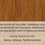 "private Einladung ""Geburtstag 70 Holz"" RS"