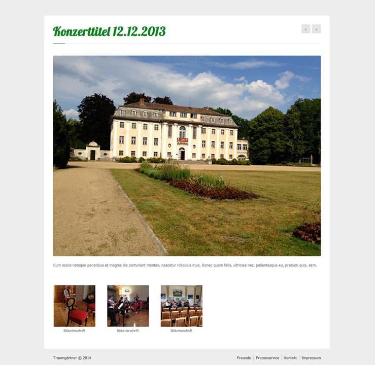 Website Traumgärtner, Galerie Konzert 1