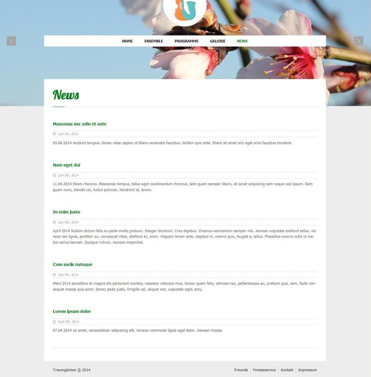 Website Traumgärtner, News