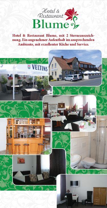 Hotel & Restaurant Blume, Flyer Version 1 Rückseite