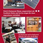 Hotel & Restaurant Blume, Flyer Version 2 Rückseite