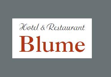 Hotel & Restaurant Blume, Visitenkarte 2016 Vorderseite