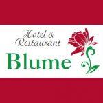 Hotel & Restaurant Blume, Visitenkarte 2015 Vorderseite