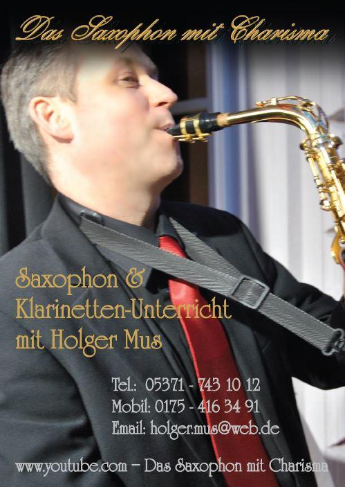 Saxophon Flyer Vorderseite