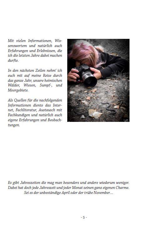 """Buch """"Bin im Wald"""" von Sabine Langer - Beispielseite"""