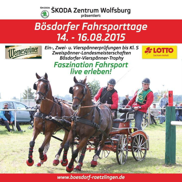 Sonderformat Plakat Bösdorfer Fahrsporttage