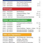 Caritas Programm Inhaltsverzeichnis
