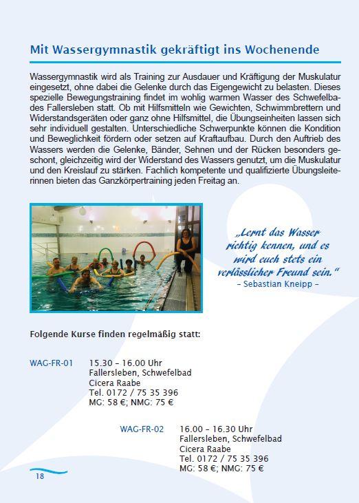 Kneipp Programm Beispielseite