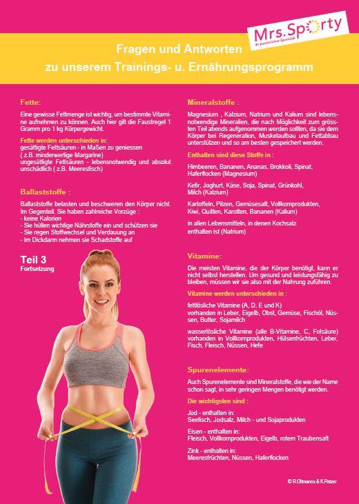 Mrs. Sporty Plakat A4 Programm Teil 3 RS