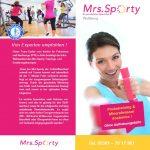 Mrs. Sporty Flyer DIN Lang zweiseitig außen
