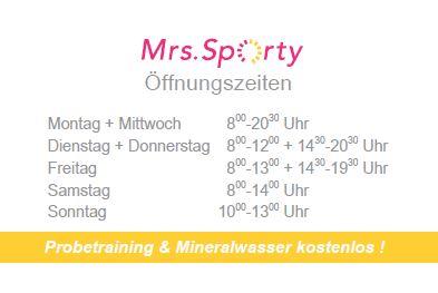 Mrs. Sporty Visitenkarte RS