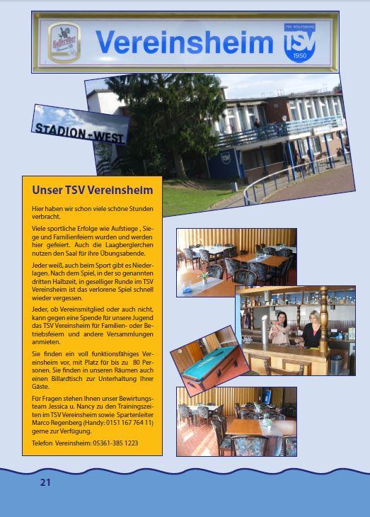 Magazin TSV WOB Beispielseite