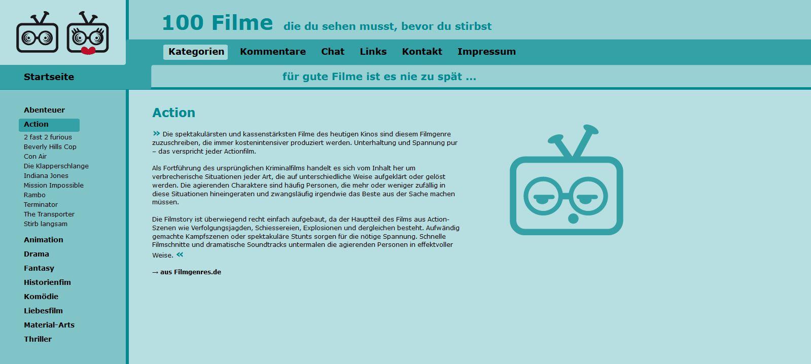 100 Filme - Kategorien - Action