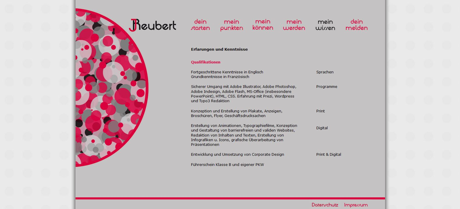 Website JReubert alt Qualifikationen