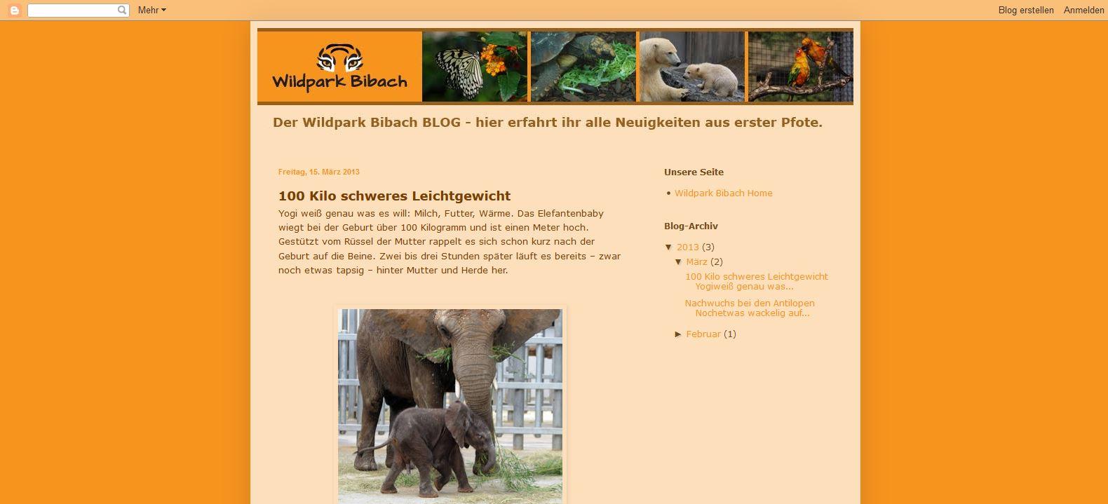 Wildpark Bibach - Aktuelles (Blog)