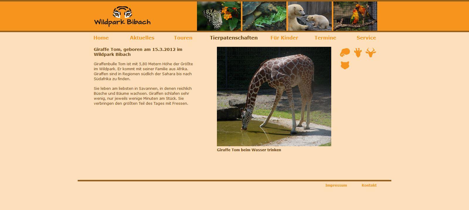 Wildpark Bibach - Tierpatenschaften