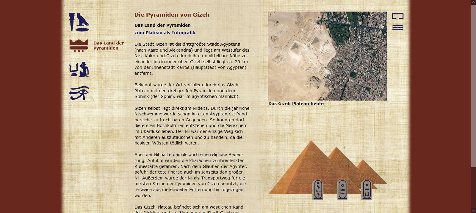 Die Pyramiden von Gizeh - Das Land der Pyramiden