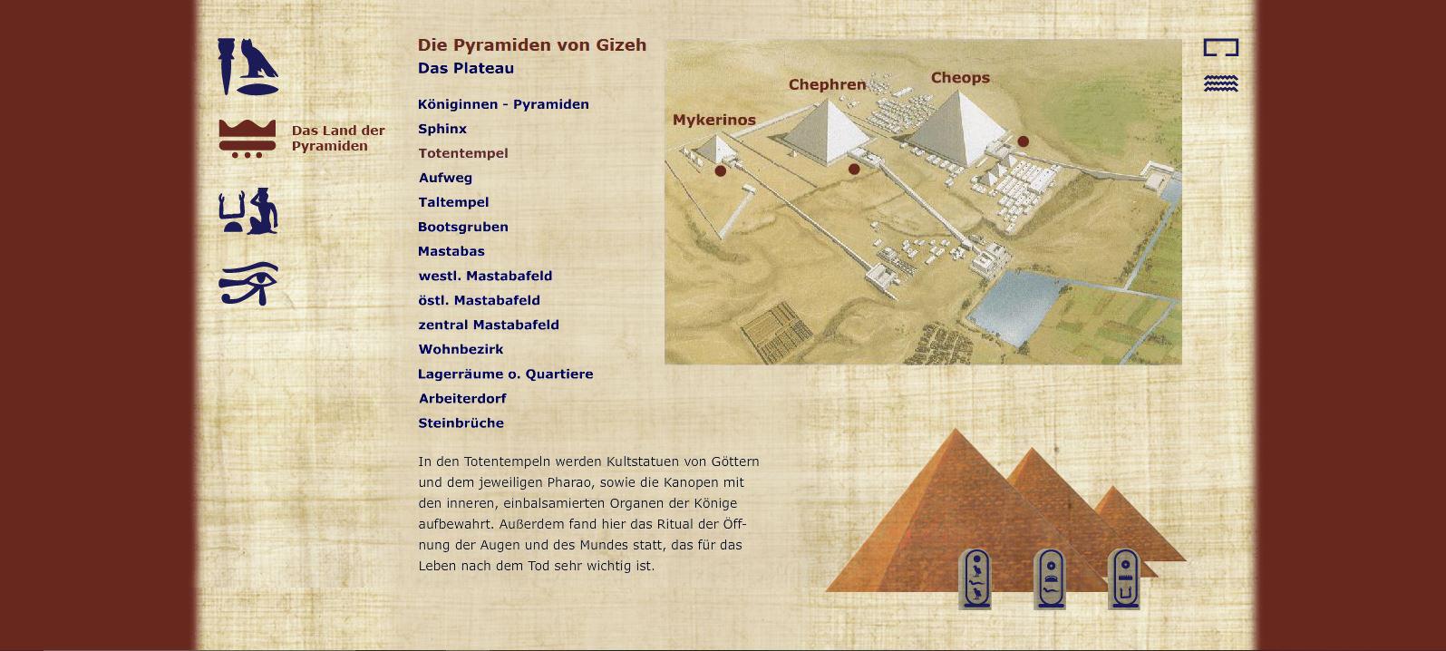 Die Pyramiden von Gizeh - Das Land der Pyramiden - Plateau