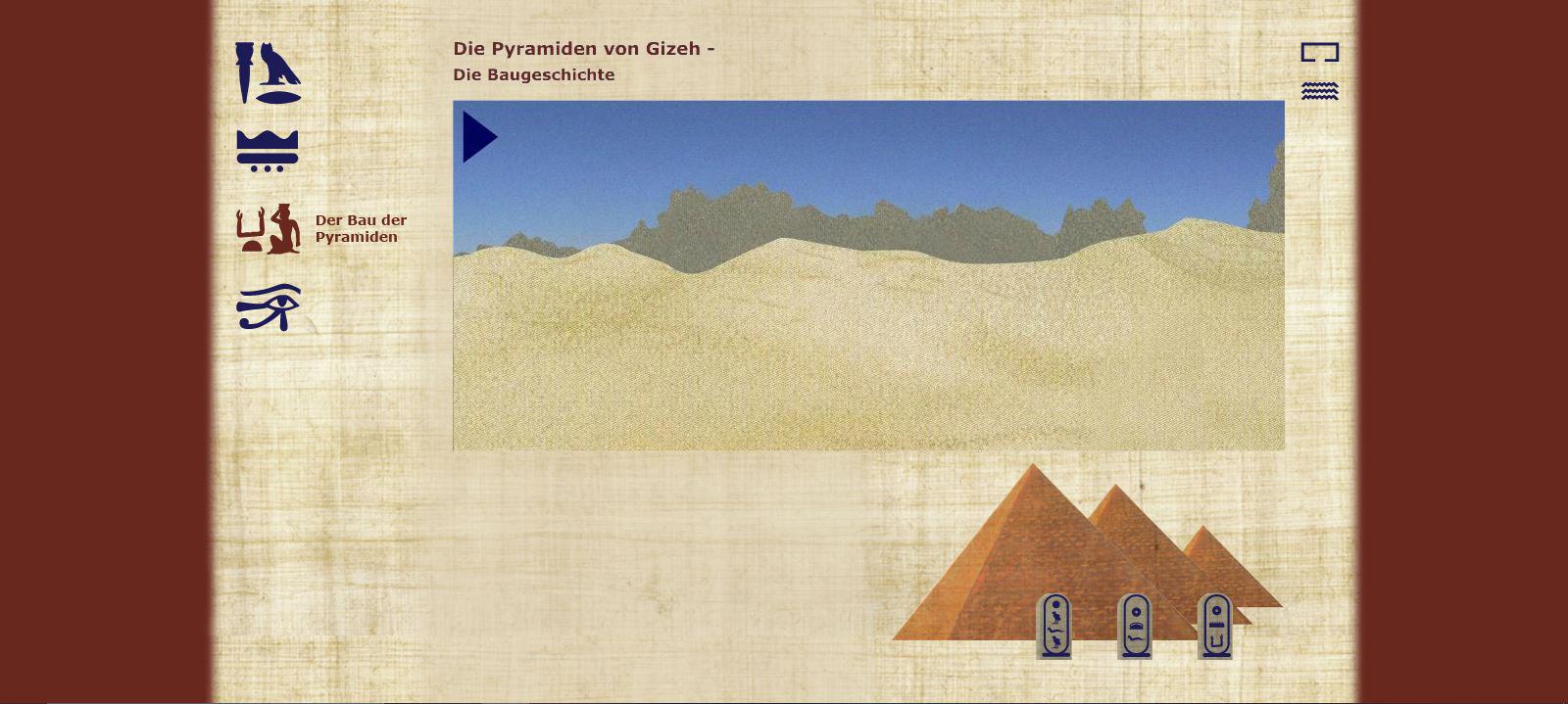 Die Pyramiden von Gizeh - Der Bau der Pyramiden - Zeitstrahl