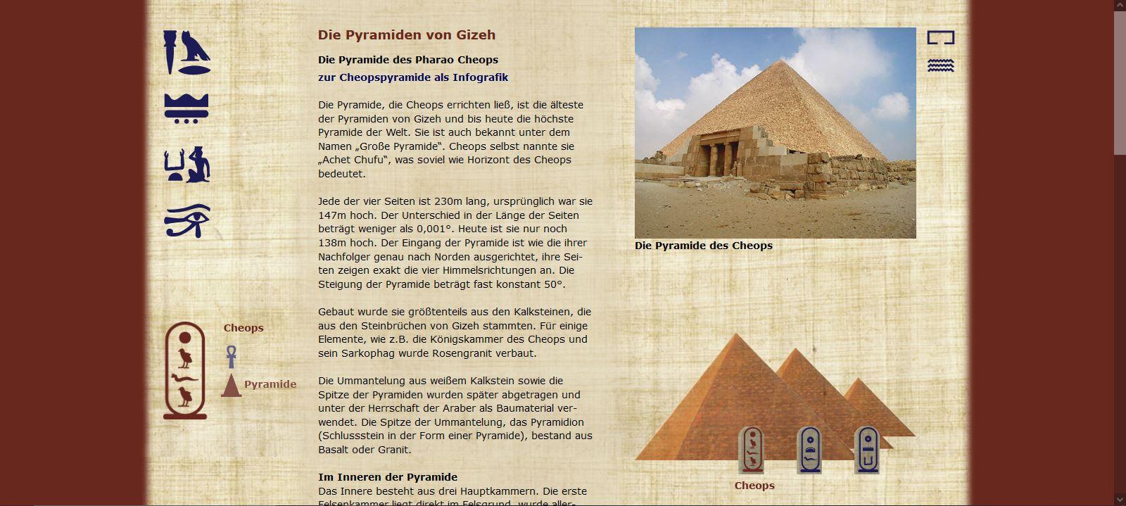 Die Pyramiden von Gizeh - Cheops - Pyramide
