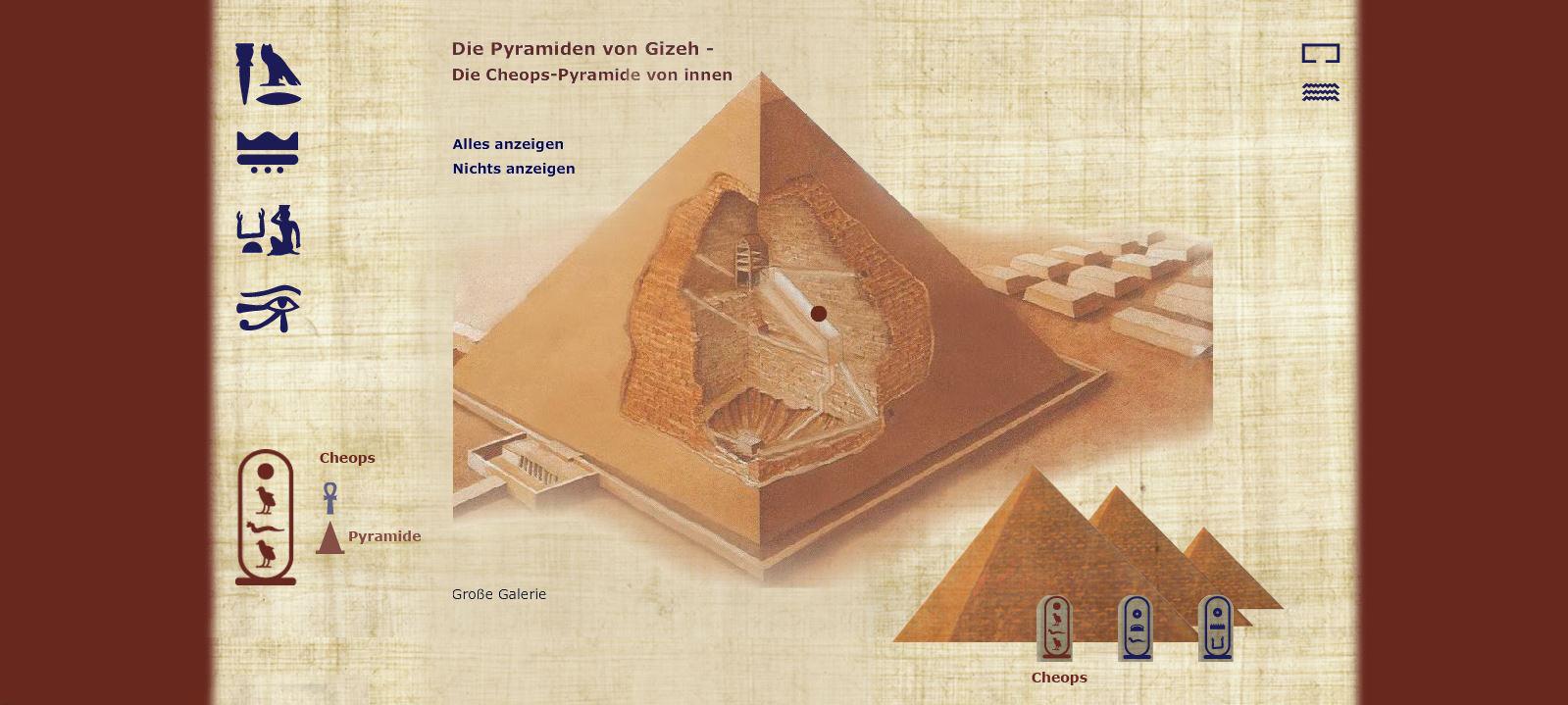 Die Pyramiden von Gizeh - Cheops - Pyramide - Infografik
