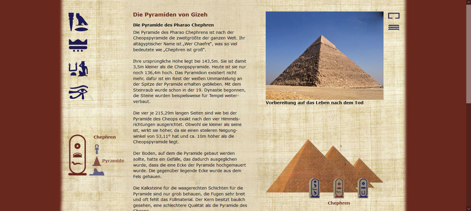 Die Pyramiden von Gizeh - Chephren - Pyramide