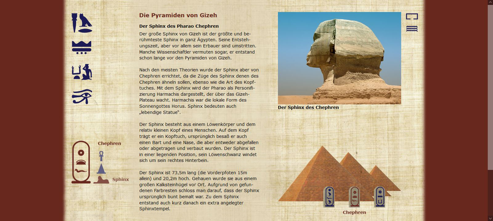 Die Pyramiden von Gizeh - Chephren - Sphinx