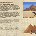 Die Pyramiden von Gizeh - Mykerinos - Pyramide