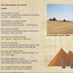 Die Pyramiden von Gizeh - Quellen