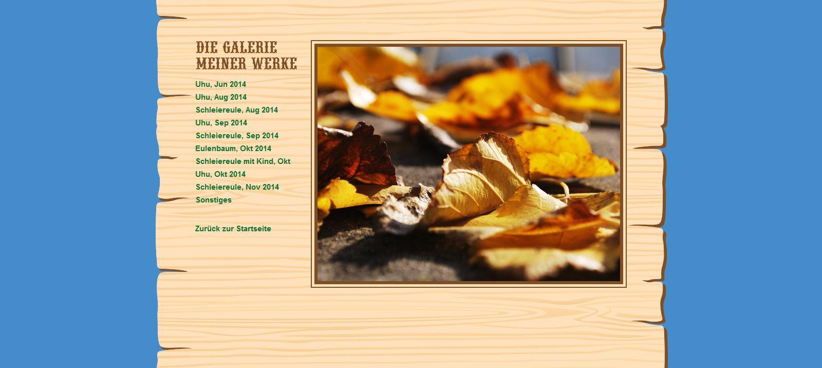 Website Holzwurm Frank Galerie
