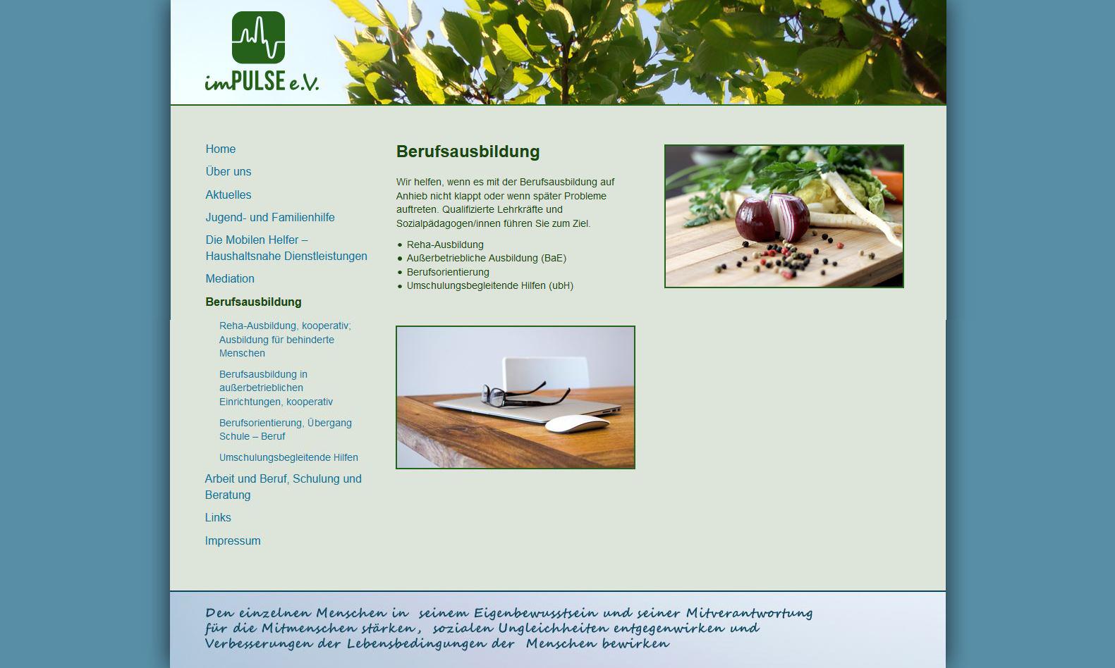 Website Impulse Berufsausbildung