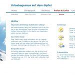 Website Riefstein Preise & Infos - Wetter